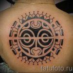 тату полинезия солнце - фото классной готовой татуировки от 14072016 1