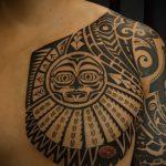 тату полинезия солнце - фото классной готовой татуировки от 14072016 5