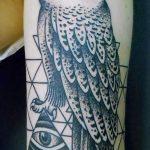 тату сова в треугольнике - фото пример классной татуировки от 14072016 3