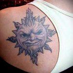 тату солнце для мужчин - фото классной готовой татуировки от 14072016 2