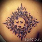 тату солнце и луна - фото классной готовой татуировки от 14072016 1