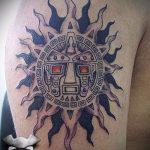 тату солнце майя - фото классной готовой татуировки от 14072016 2