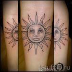 тату солнце с лицом - фото классной готовой татуировки от 14072016 1
