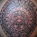 тату солнце у ацтеков - фото классной готовой татуировки от 14072016 2