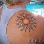 тату солнце у девушек - фото классной готовой татуировки от 14072016 11
