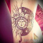 тату солнце у девушек - фото классной готовой татуировки от 14072016 2