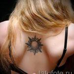 тату солнце у девушек - фото классной готовой татуировки от 14072016 4