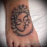 тату солнце у девушек - фото классной готовой татуировки от 14072016 6