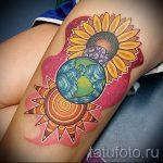 тату солнце цветное - фото классной готовой татуировки от 14072016 1