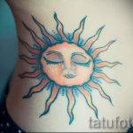 тату солнце цветное - фото классной готовой татуировки от 14072016 3