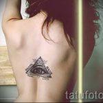 тату треугольник на спине - фото пример классной татуировки от 14072016 1