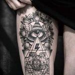 тату треугольник с глазом - фото пример классной татуировки от 14072016 1