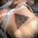 тату треугольник с розами - фото пример классной татуировки от 14072016 2