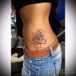 тату треугольник с розами - фото пример классной татуировки от 14072016 3