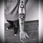 треугольник с полоской тату - фото пример классной татуировки от 14072016 3