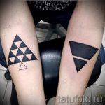 черный треугольник тату - фото пример классной татуировки от 14072016 2