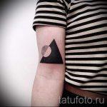 черный треугольник тату - фото пример классной татуировки от 14072016 3
