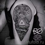 Eule Tattoo in einem Dreieck - Foto Beispiel eines kühlen Tätowierung auf 14072016 1