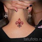 Französisch Lilie Tattoo - Foto Beispiel der Tätowierung 13072016 2