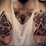 Freimaurerischen Dreieck Tattoo - Foto Beispiel eines kühlen Tätowierung auf 14072016 2
