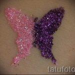 Glitter Tattoo Schmetterling - Foto Beispiel für 24072016 1