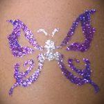 Glitter Tattoo Schmetterling - Foto Beispiel für 24072016 2