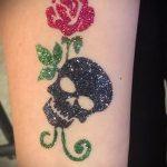 Glitter Tattoo rose - Foto Beispiel für 24072016 2