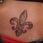 Héraldique tatouage lily - Photo exemple du tatouage 13072016 1