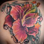 Lilie Tattoo Farbe - Foto Beispiel für die Tätowierung 13072016 1