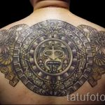 Mayan sun tattoo - cool photo of the finished tattoo 14072016 1