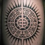 Polynesia tattoo sun - a photo of the finished tattoo on classroom 14072016 1