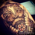 Slawische Sonne Tattoo - cool Foto des fertigen Tätowierung 14072016 3