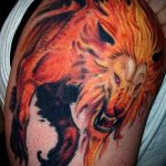 Sonne Löwe Tattoo - ein cooles Foto des fertigen Tätowierung 14072016 2