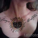 Sonne Tätowierung auf seiner Brust - ein kühles Foto des fertigen Tätowierung 14072016 3