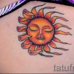 Sonne Tattoo Farbe - cool Foto des fertigen Tätowierung auf 14072016 2