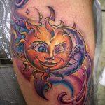 Sonne Tattoo Farbe - cool Foto des fertigen Tätowierung auf 14072016 3