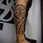 Sonne Tattoo auf seinem Bein - ein kühles Foto des fertigen Tätowierung 14072016 2