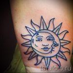 Sonne Tattoo auf seinem Handgelenk - ein kühles Foto des fertigen Tätowierung 14072016 1