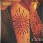 Sonne Tattoo - cool Foto des fertigen Tätowierung auf 14072016 2
