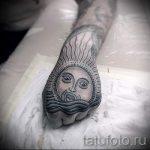 Sonne Tattoos für Männer - ein kühles Foto des fertigen Tätowierung 14072016 1