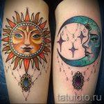 Sonne und Mond Tattoo - ein cooles Foto des fertigen Tätowierung 14072016 1