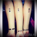 Tätowierung drei Dreieck - Foto Beispiel eines kühlen Tätowierung auf 14072016 2