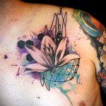 Tattoo-Aquarell Lilie - Foto Beispiel der Tätowierung 13072016 2