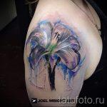 Tattoo-Aquarell Lilie - Foto Beispiel der Tätowierung 13072016 3