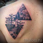 Tattoo-Baum im Dreieck - Foto Beispiel eines kühlen Tätowierung auf 14072016 2