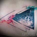 Tattoo-Dreieck in einem Dreieck - Foto Beispiel eines kühlen Tätowierung auf 14072016 1