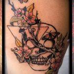 Tattoo-Dreieck mit Rosen - Foto Beispiel eines kühlen Tätowierung auf 14072016 2