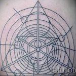 Tattoo-Dreieck und Kreis - Foto Beispiel eines kühlen Tätowierung auf 14072016 2
