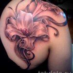Tattoo Lilie Blume - Foto Beispiel der Tätowierung 13072016 2