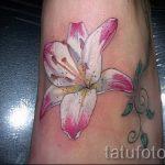 Tattoo Lilie weiß - Foto Beispiel der Tätowierung 13072016 1